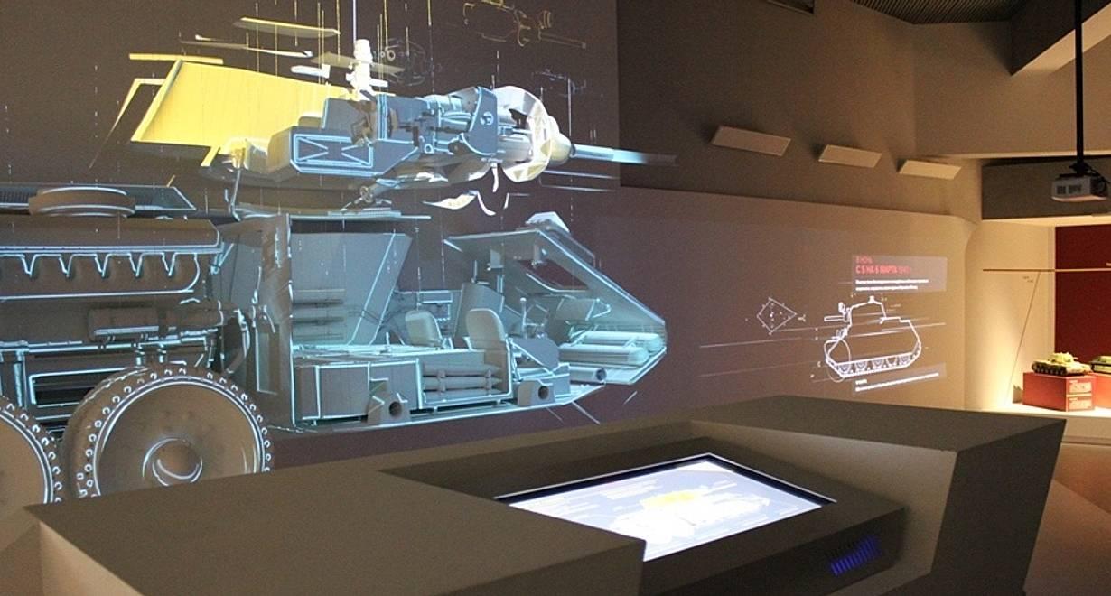 Экспозиция Музея бронетанковой техники